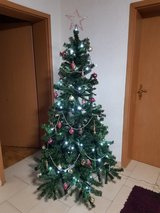 Christmas Tree 6 ft, with Light 220V and Deco in Ramstein, Germany