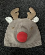 Baby reindeer beanie hat in Lakenheath, UK
