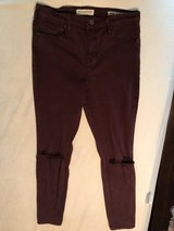 High rise Burgundy Jeans in Kingwood, Texas