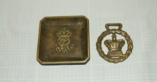 Royal Crown IX Bronze Square Dish & Royal Crown Laurel Wreath Brass Horse Tack in St. Charles, Illinois