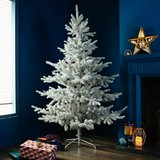 New Snowy Natural Needle Frosted Mountain Spruce 4ft 5ft 6ft 7ft Christmas Tree in Pasadena, Texas