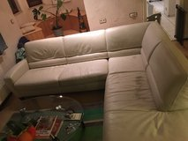 2 piece Sectional Italian Leather Couch in Stuttgart, GE