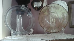 Depression Glass Amber Bowl and Clear Pie Plate in Batavia, Illinois
