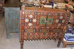 Antique Console Damchia Sideboard Hand Carved Indian Chest in Birmingham, Alabama