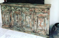 Rustic CHEST Dresser Distressed Green Sideboard in Birmingham, Alabama