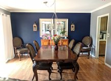 solid wood dining table in Naperville, Illinois