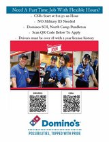 Immediate Openings ALL Positions 52 Area/SOI Domino's in Camp Pendleton, California
