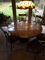 Beautiful Round Marble Table w 6 chairs in Kingwood, Texas