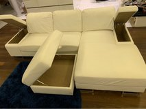 white leather couch w.ottoman in Stuttgart, GE