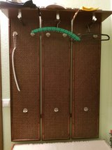 Wardrobe with Mirror - wood, Rattan-Style, from the 80ties !!!! in Ramstein, Germany