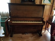 1920's Antique Oak Cabinet Grand Piano by Hall & Sons in Westmont, Illinois