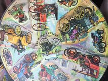 Vintage 1965 Motorcar circular jigsaw puzzle in Yucca Valley, California