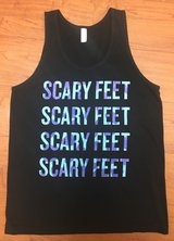 Disney Monsters INC Scary Feet Tank, Sz S in Fort Campbell, Kentucky