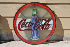 Coca Cola Stained Glass in Alamogordo, New Mexico