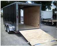 7' x 14' enclosed trailer (4 years old) in Kingwood, Texas