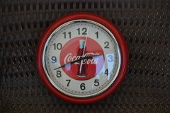 Metal Coca Cola Clock in Alamogordo, New Mexico