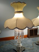 Vintage Crystal Drop Lamps in Chicago, Illinois
