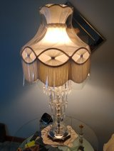 Vintage tiered 3 crystal drop lamp in Chicago, Illinois