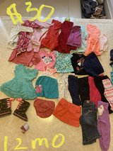baby girl clothes 28 pieces lot 12 month in Ellsworth AFB, South Dakota