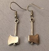 Earrings Hatchets Silver Goes with Charm Bracelet Tools in Kingwood, Texas