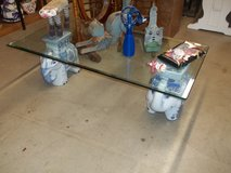 Elephant Glass Top Table in Fort Riley, Kansas