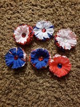 Red, White, & Blue flower clips in Bolingbrook, Illinois