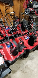 Toro CCR3650/CCR2450  single stage snowblowers. With electric start option 2 cycle Engine in Plainfield, Illinois