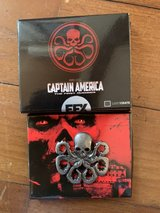 "Captain America""Hydra"" metal pin in Okinawa, Japan"