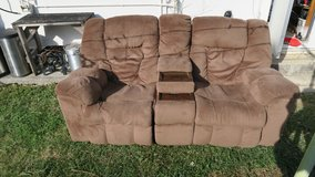 clean recliner loveseat couch ( i read the add ) in Okinawa, Japan