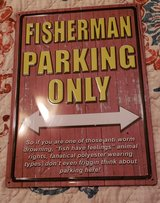 Fisherman Parking Only Wall Art in Fort Campbell, Kentucky