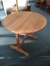 Round Tilt Top Wood Table in St. Charles, Illinois