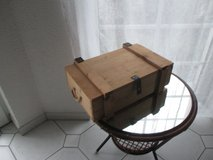 wooden box with lid in Ramstein, Germany