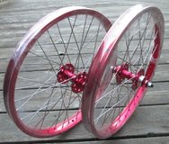 "SE RACING  bmx wheelset 20"", front & rear, new; RED in Okinawa, Japan"