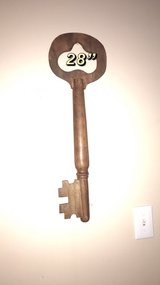 wooden big key decor in Naperville, Illinois