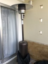 Patio propane heating lamp with tank and cover in Okinawa, Japan