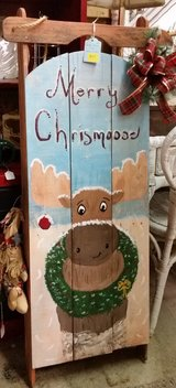 Hand painted sled in Fort Campbell, Kentucky