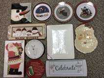 Variety of Christmas serving trays & cookie plates in Sandwich, Illinois