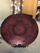 Beautiful Display Platter on Wrought Iron Stand in Camp Pendleton, California
