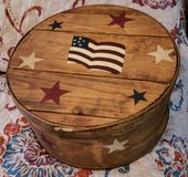 Gorgeous patriotic memory/hat box in Fort Campbell, Kentucky