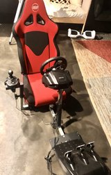 Logitech Racing Seat, wheel, gear shifter and petals in Naperville, Illinois