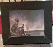 Framed Patriotic 'Welcome Home ' print in Fort Campbell, Kentucky