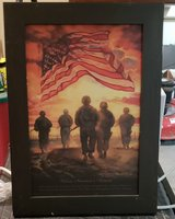 Gorgeous framed patriotic 'Bless Our Heroes' print in Fort Campbell, Kentucky