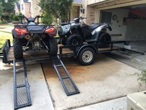 2 Kymco ATVs and trailer in Kingwood, Texas