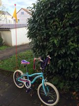 18 inch Girls Schwinn Bike with light and flag (removable but recommended!) for extra visibility in Stuttgart, GE