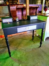 Antique solid oak chalk painted desk in Cherry Point, North Carolina
