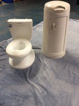 potty chair n Munchkin diaper pail in Fort Bragg, North Carolina