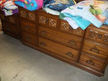 Three Piece Dresser with Mirror and Side Table in Fort Riley, Kansas