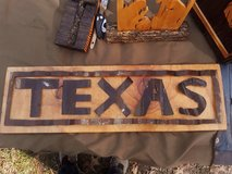art wood sign in Cleveland, Texas