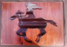 wood and tin art in Cleveland, Texas