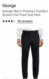 Men's 32x30 black dress pants in Chicago, Illinois